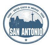 Grunge rubber stamp du texas, san antonio — Vecteur