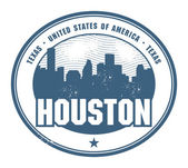 Rubber stamp of Texas, Houston — Stock Vector
