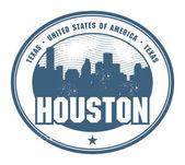 Rubber stamp of Texas, Houston — Vector de stock