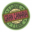 Stamp with text I Love Gran Canaria inside — Stock Vector