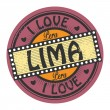 图库矢量图片: Stamp with text I Love Liminside