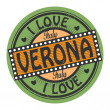 Vector de stock : Text I Love Verona