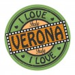Stok Vektör: Text I Love Verona