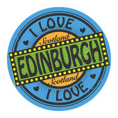 Label with text I Love Edinburgh — Stock Vector