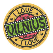 Text I Love Vilnius — Stock Vector