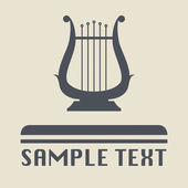Lyre icon or sign — Stock Vector