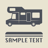 Camper icon or sign — Stock Vector