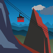 Mountain adventure background — Stock vektor