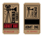 Retro cinema ticket — Stock Vector