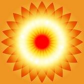 Resumen de sunburst — Vector de stock