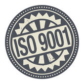 Abstract stamp or label with the text ISO 9001 written inside — Stock Vector