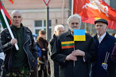 Independence Day on March 11, 2014 in Vilnius, Lithuania — Stock fotografie