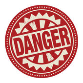 Abstract stamp or label with the text Danger written inside — Stock Vector