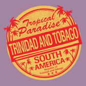 Grunge rubber stamp or label with the name of Trinidad and Tobago — Stockvektor