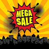 Mega sale design — Stock Vector