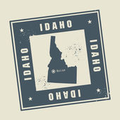 Stamp with name and map of Idaho, USA — Stock Vector