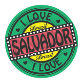 Stamp with text I Love Salvador, Brazil — Stock Vector