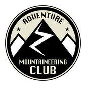 Mountain adventure club icon or sign — Stock Vector