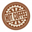 Label with the text Hot Coffee — Stock Vector