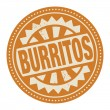 Stamp or label with the text Burritos — Stock Vector