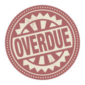 Label with the text Overdue — Stock Vector