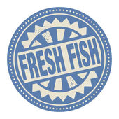 Label with the text Fresh Fish — Stock Vector