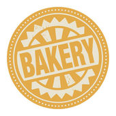 Label with the text bakery — 图库矢量图片
