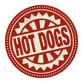 Label with the text Hot Dogs — Stock Vector