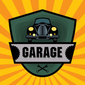 Vintage Garage — Stock Vector