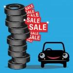 Tires sale — Stock Vector #43544449