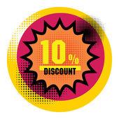 Discount Sticker — Stock Vector