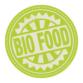 Abstract stamp or label with the text Bio Food written inside — Stockvector
