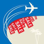 Concepção abstrata de venda de viagens — Vetor de Stock