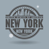 Stamp or label with text New York inside — Stock Vector