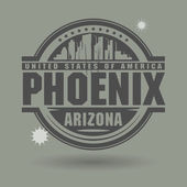 Stamp or label with text Phoenix, Arizona inside — ストックベクタ