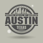 Stamp or label with text Austin, Texas inside — Stock Vector
