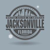 Stamp or label with text Jacksonville, Florida inside — Stockvektor