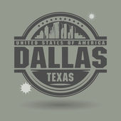 Stamp or label with text Dallas, Texas inside — Stock Vector