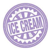 抽象的图章或标签与文本冰淇淋写在里面 — 图库矢量图片