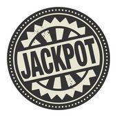 Timbro astratta o etichetta con il jackpot di testo scritto all'interno — Vettoriale Stock