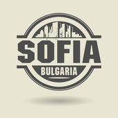 Stamp or label with text Sofia, Bulgaria inside — Stock Vector