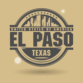 Stamp or label with text El Paso, Texas inside — Stock Vector