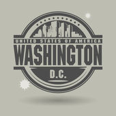 Stamp or label with text Washington, District of Columbia inside — Stock Vector