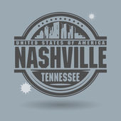 Stamp or label with text Nashville, Tennessee inside — Stock Vector