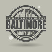 Stamp or label with text Baltimore, Maryland inside — Stock Vector