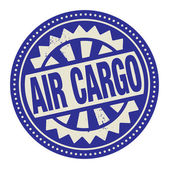 Abstract stamp or label with the text Air Cargo written inside — Stockvector