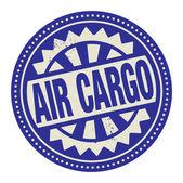 抽象的图章或标签与文本空运货物写在里面 — 图库矢量图片