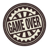 Abstract stamp or label with the text Game Over written inside — Stock Vector