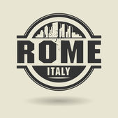 Stamp or label with text Rome, Italy inside — Stockvektor