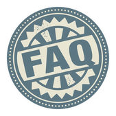 Abstract stamp or label with the text FAQ written inside — Stock Vector